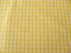 "1/4"" Gingham Quality Polycotton Fabric in Yellow"